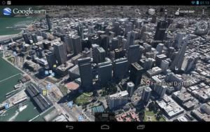 Parallel zur Veröffentlichung des Tablets hat Google einige seiner Apps grundlegend umgestaltet, Google Earth kann nun etwa - in einigen ausgewählten Städten - mit einer wirklich beeindruckenden 3D-Ansicht aufwarten.