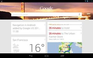 Google Now verknüpft die unterschiedlichsten Quellen eines Google-Accounts, um automatisch potenziell relevante Information anzubieten - noch bevor die NutzerInnen überhaupt zum Suchen kommen, so die Idee.