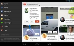 Und für das soziale Netzwerk Google+ gibt es überhaupt zum ersten Mal eine dezidierte Tablet-App.