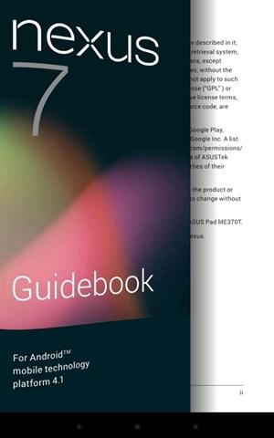 """Im Play Book Store gibt es als Einführung zum Nexus 7 ein eigenes """"Guidebook""""."""