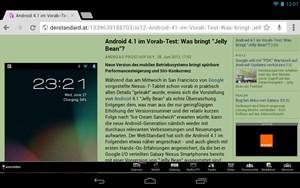 Chrome ist der Default-Browser des Nexus 7 - eine Premiere im Android-Bereich.