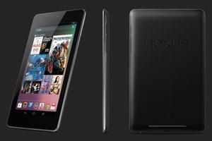 Googles Nexus 7, im Bild in jener Version, die im Handel erhältlich ist.