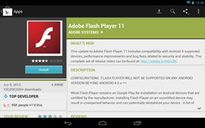"""Zwar lässt sich Flash derzeit auf dem Nexus 7 mit """"Jelly Bean"""" installieren, Adobe unterstützt die neue Android-Version aber nicht mehr."""
