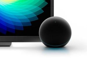 Das Nexus-Q-Design kann sich fraglos sehen lassen, und das sowohl von vorne...