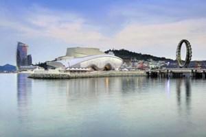Das Highlight der diesjährigen Expo: Ocean-&-Coast-Themenpavillon der Salzburger Architekten Soma mit geschlossener ...
