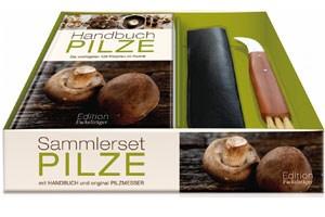 Box mit Handbuch und Pilzmesser