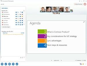 So sieht eine Videokonferenz mit Lync in Zukunft aus