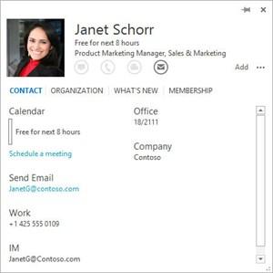 """Eine """"People Card"""" für Outlook 2013"""