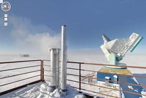 Das Südpolteleskop - einer jener Orte, die jetzt auf Google Maps virtuell erkundet werden können.