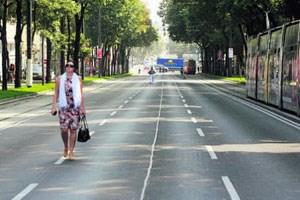 Die autofreie Ringstraße gibt's in Wien einen Tag pro Jahr. Auf Dauer wäre so ein Projekt gegen die Autolobby wohl chancenlos.
