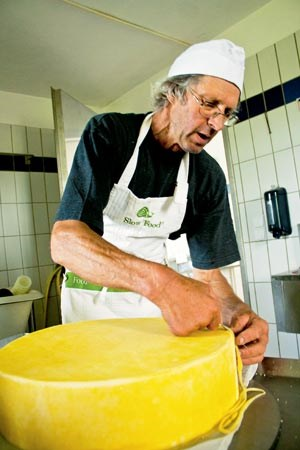 """Naynar verwendet ausschließlich Milch seiner eigenen Tiere und verzichtet auf thermische Behandlung: """"Zum Glück ist es gelungen, dass Österreich im EU-Vergleich äußerst tolerante Gesetze beschlossen hat, weshalb es heute wieder wirklich guten Käse aus Österreich gibt."""""""