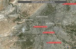 Übersichtskarte Damaskus