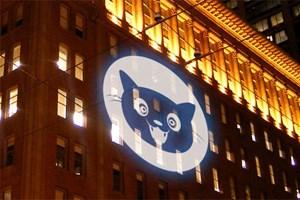 Mit Bat-Signalen für freies Internet: Seit Donnerstag gibt es die Internet Defense League offiziell