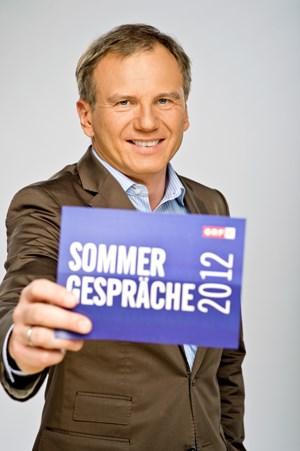 """""""Sommergespräche 2012"""" mit Armin Wolf."""
