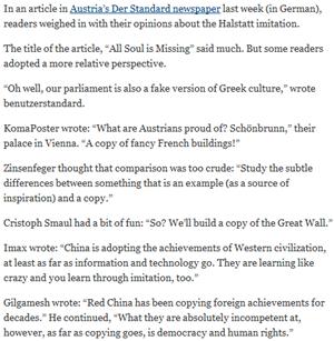 Postings unserer Community zitiert von der International Herald Tribune.