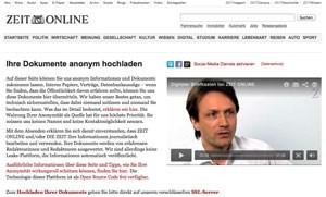 Zeit Online startet neue Plattform für Whistleblower.