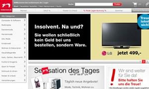 Ein Screenshot der Werbung.