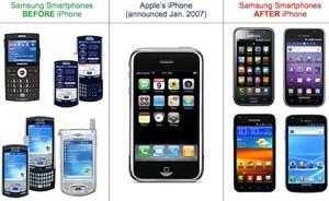 """Die laut internen Samsung-Dokumenten eigens bezeichnete """"Design-Krise"""" hat zu einer Veränderung von Samsungs Smartphones geführt. Ob mit oder ohne Orientierung an Apple wird ein Gericht entscheiden."""