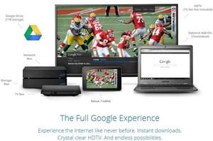 Google Fiber und TV in der Aufstellung.
