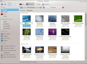 """Dolphin kann nun Metadaten direkt in der Dateiansicht darstellen, zudem lassen sich jetzt Dateien wieder """"inline"""" umbenennen."""