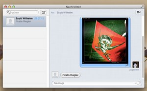 Apples SMS-Alternative iMessage ist fixer Bestandteil von OS X Mountain Lion.