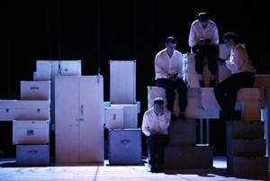 """Ein wandlungsreiches Miteinander der Künste begeistert in Detlev Glanerts """"Nijinskys Tagebuch"""" im Kornmarkttheater."""