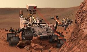 """Die Landung war erfolgreich - """"Curiosity"""" ist auf dem Roten Planeten angekommen (Illustration)."""