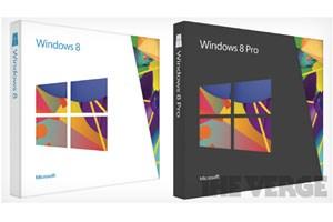 The Verge hat die Verpackungs-Designs von Windows 8 enthüllt.