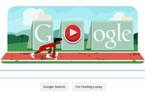 Google Doodle für den Hürdenlauf.