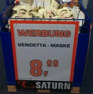Vendetta-Masken um 8,99 Euro bei Saturn Deutschland