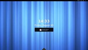 Der neue Lockscreen (in einer ersten Version), mit der optionalen Anzeige von Benachrichtigungen.