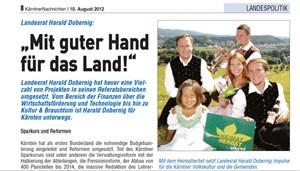 Landesrat Harald Dobernig wurde ebenfalls im Birnbacher-Prozess angeklagt.
