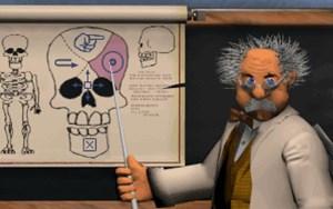 Der Professor im Hauptmenü ist nur eine der zahlreichen Kuriositäten.