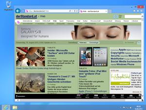 derStandard.at im Internet Explorer