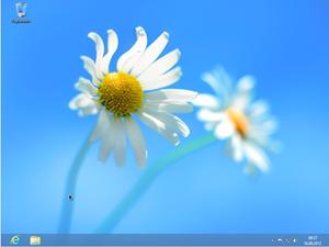 Die gewohnte Desktop-Oberfläche vom neuen Windows