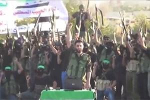 Kämpfer der Gruppe Ansar al-Islam posieren für ein Video um ihre Kampfbereitschaft zu zeigen.