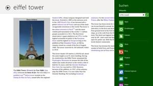 Nett gemacht: Die Wikipedia-App.