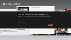 Die anderen Xbox-Contentdienste gehen noch nicht und spucken Fehlermeldungen aus.