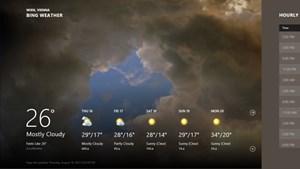 Die integrierte Wetter-App ist schön gestaltet.