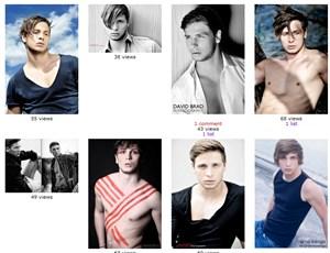 Auf der Plattform www.modelmayhem.com finden sich ein einige Bilder von Daniel Wiezorrek.
