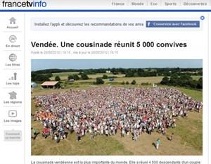 Mit diesem Familientreffen sicherten sich die Franzosen einen Eintrag im Guiness-Buch der Rekorde.