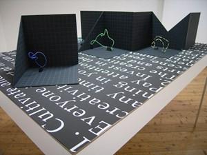 """Kathi Hofer beschäftigt sich im weitesten Sinn mit den Produktionsbedingungen von Kunst: """"Motion Studies (Artistic Practice)"""", 2012."""