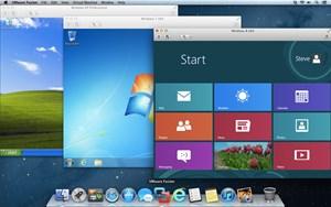 VMware Fusion 5 mit mehreren virtuellen Maschinen.