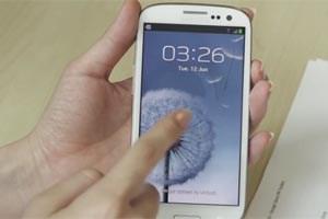 """Steine in einem Bach waren die gedankliche Vorlage für das Aussehen des """"Galaxy S3""""."""