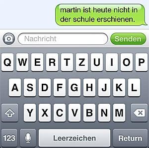 SMS aus dem Lehrerzimmer.