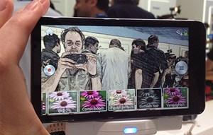 Diverse Bildeffekte werden live am Display angezeigt.