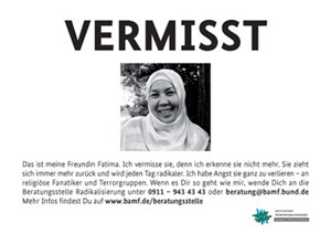 Plakate des Innenministeriums wie dieses erzürnen die Muslime in Deutschland.