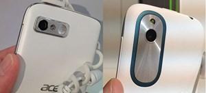 Beide Kameras bieten 5 Megapixel, die Kamera des Desire X (rechts) löst schneller aus und schießt schnellere Serienbilder.
