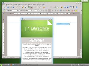 Die freie Office-Suite LibreOffice darf natürlich auch nicht fehlen - stellt SUSE doch zahlreich der KernentwicklerInnen dafür.