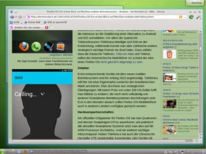 Im Browserbereich gibt es jede Menge Auswahl, im Bild etwa der schlanke KDE-Browser Rekonq. Von Haus aus wird hingegen Firefox genutzt.
